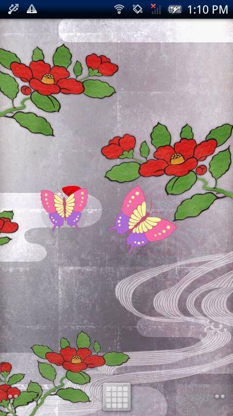 Camellia & Butterfly - screenshot