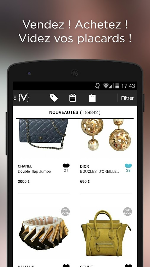 vestiaire collective applications android sur play