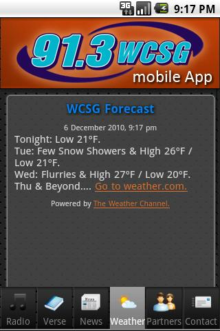 WCSG 91.3 - screenshot