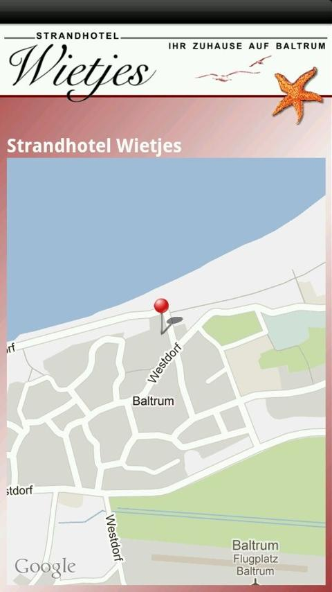 Strandhotel Wietjes Baltrum - screenshot