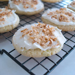 Lime in the Coconut Frosted Cookies.
