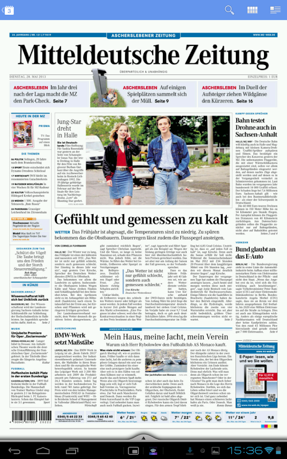 Mitteldeutsche Zeitung Sport
