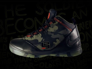 f5f7bdcebdc Nike Basketball LeBron Zoom Soldier II Camo Giveaway