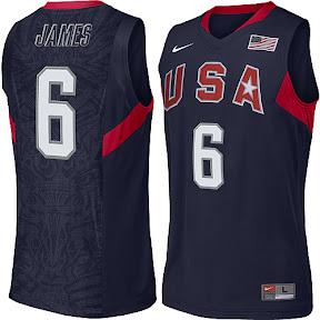 4dab4fa0769 USA Basketball New Jerseys for the 2008 Olympics in Beijing