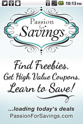 Passion For Savings - screenshot