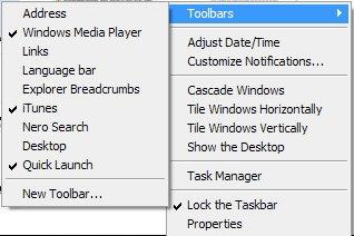 toolbars