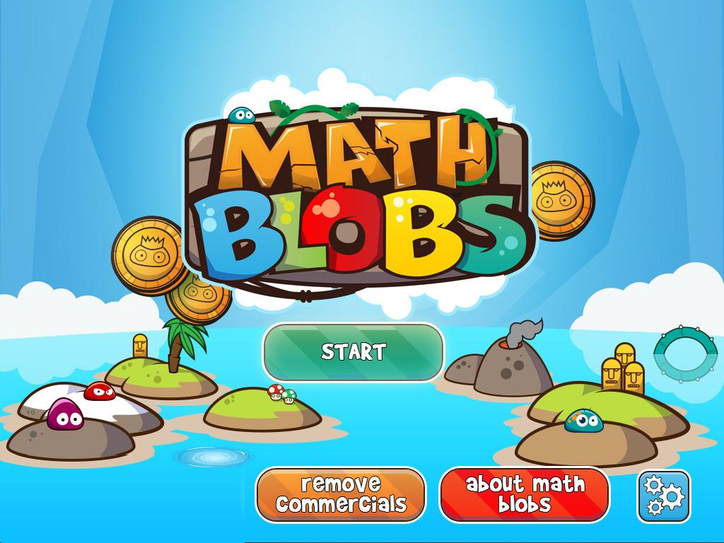 Math Blobs Times tables- screenshot
