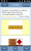 Screenshot of PCV Theory Test UK Lite