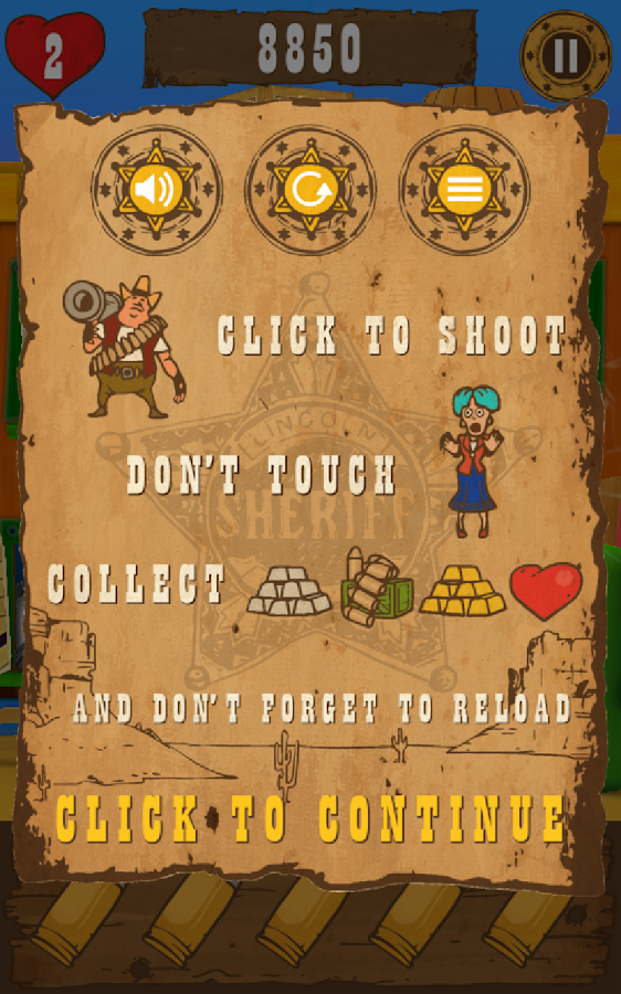 Top Shootout: The Saloon- screenshot