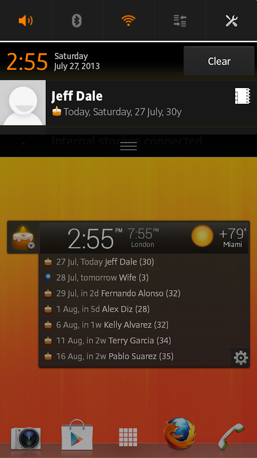 All-in-One Agenda widget- screenshot