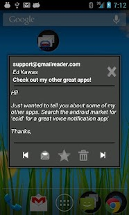 Talking Gmail Reader - screenshot thumbnail