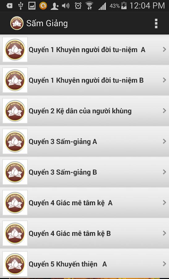 Sam Giang - Phat Giao Hoa Hao- screenshot