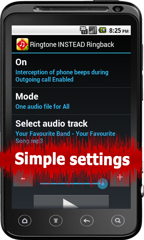 Ringtone INSTEAD Ringback Free - screenshot