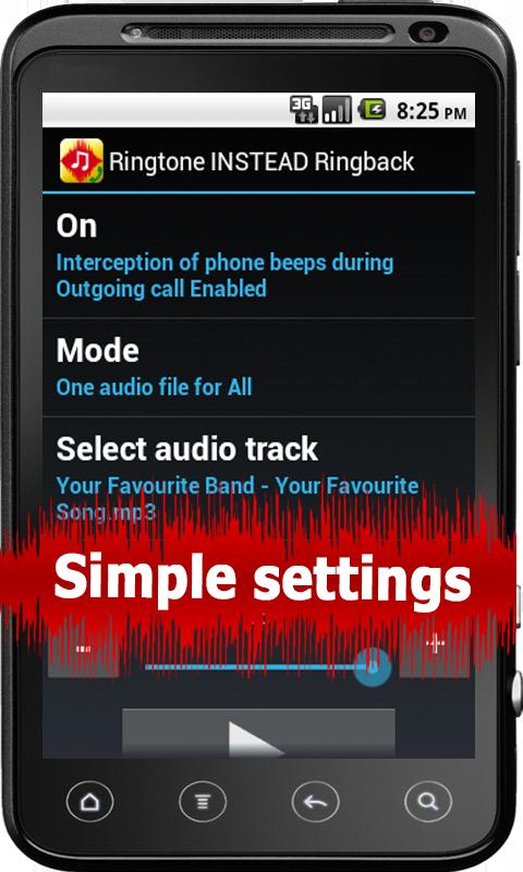 Ringtone INSTEAD Ringback Free - screenshot