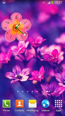 Flowers Clock Widget - screenshot