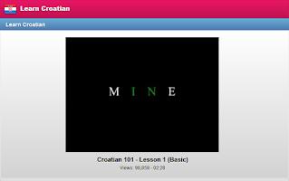 Screenshot of Learn Croatian Free