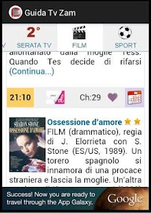 Programmi Tv Guida Tv Zam - screenshot thumbnail