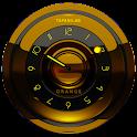 Black orange clock analog icon