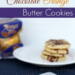 Chocolate Orange Butter Cookies