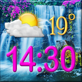 Waterfall Clock Weather Widget