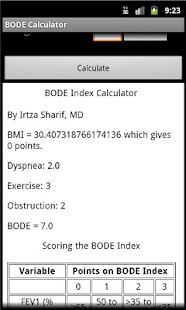 BODE Calculator
