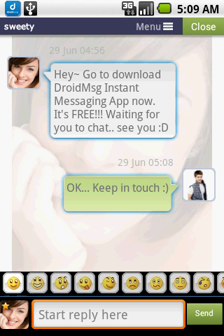 DROIDMSG (PRO) - Free Dating - screenshot