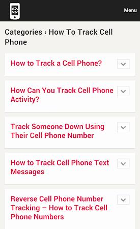 Cell Phone Tracker Tips 1.0 screenshot 9993