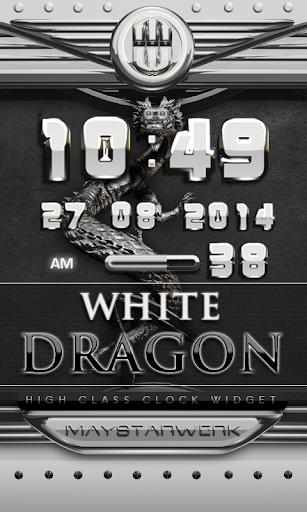dragon digital clock white