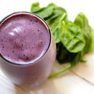 Blueberry Spinach Smoothie.