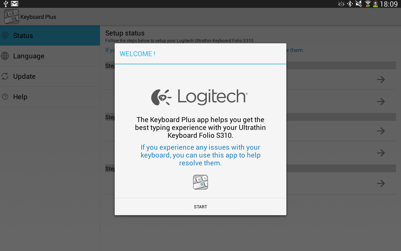 Logitech Keyboard Plus - screenshot