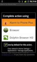 Screenshot of Alarm to Phone Plus