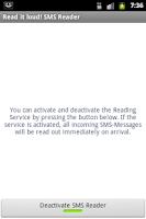 Screenshot of Read it loud! SMS Reader Basic