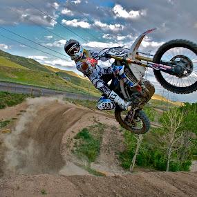 589 by Zachary Zygowicz - Sports & Fitness Motorsports ( yamaha, motocross, dirtbike, whip, jump )