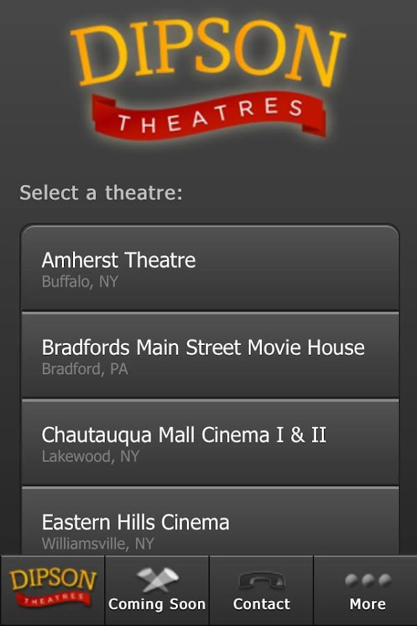 Dipson Theatres - screenshot