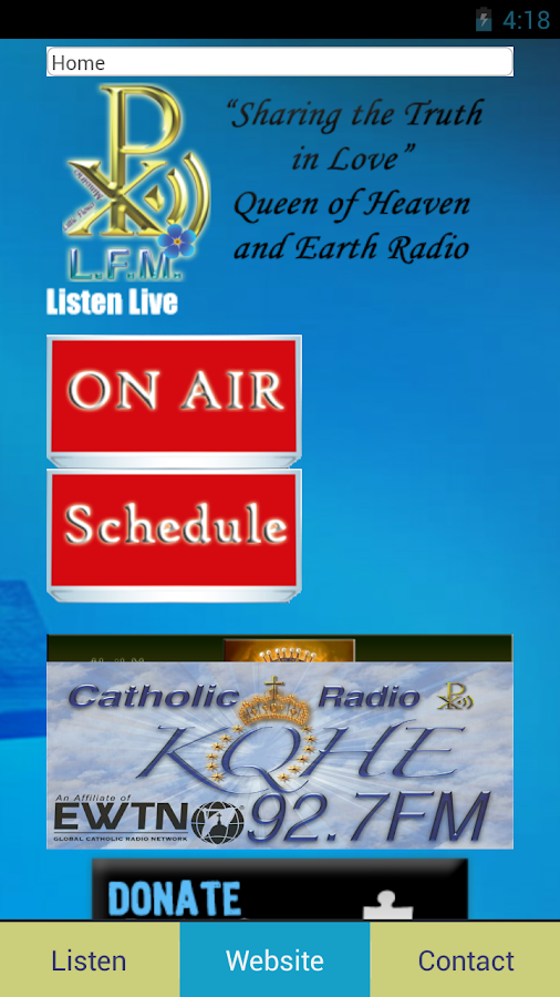 KQHE 92.7 FM- screenshot