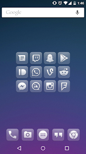 Glasklart - Icon Pack Capture d'écran