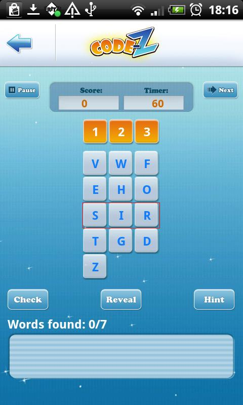 Code-Z: Word Puzzle Game- screenshot