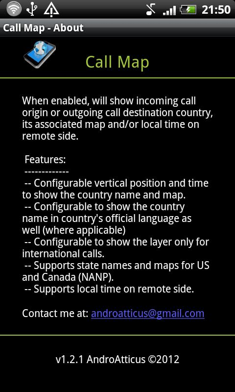 Call Map - screenshot