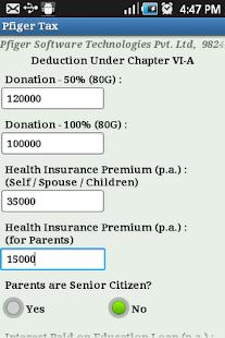 Pfiger Tax Calculator- screenshot thumbnail