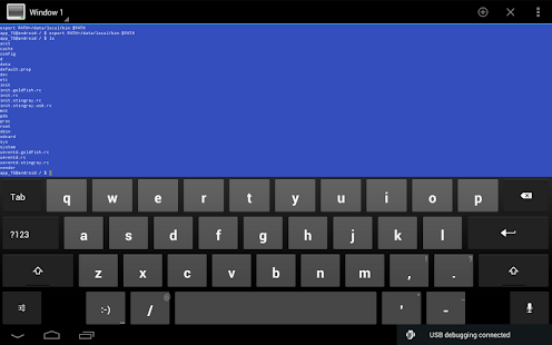 Android Terminal Emulator Capture d'écran
