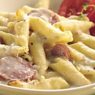 Cheesy Sausage and Penne Casserole.
