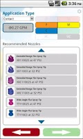 Screenshot of TeeJet SpraySelect