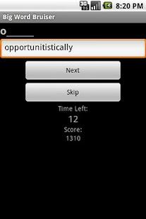 Big Word Bruiser- screenshot thumbnail