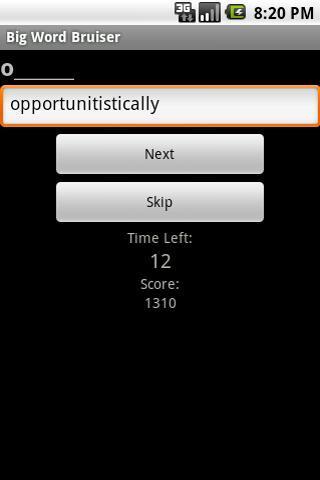 Big Word Bruiser- screenshot