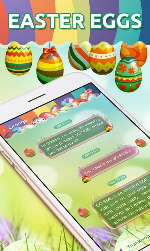 GO SMS PRO EASTER EGGS THEME- screenshot