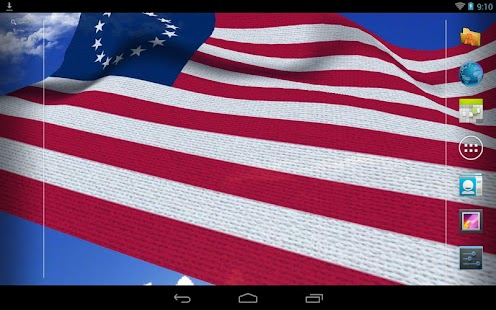 3D US Flag Live Wallpaper - screenshot thumbnail