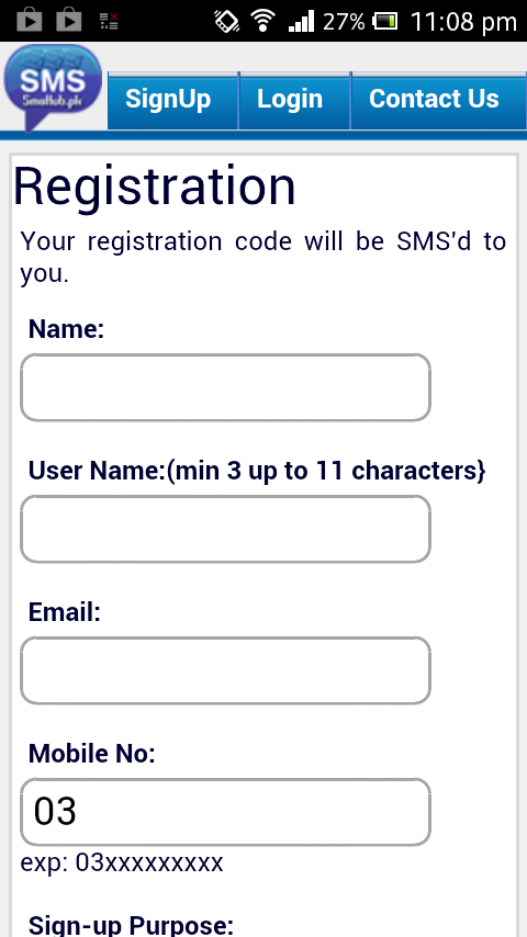 SMS Hub- screenshot