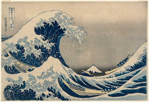 Under the Wave off Kanagawa (Kanagawa-oki nami-ura), also known as the Great Wave, from the series Thirty-six Views of Mount Fuji (Fugaku sanjūrokkei)