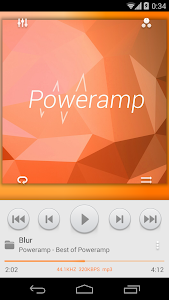 Skin for Poweramp MIUI Light screenshot 0