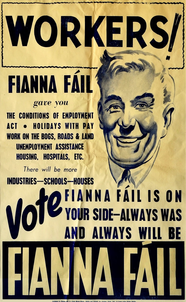 Fianna Fail Election Poster 'Workers' (1948). — Google Arts & Culture